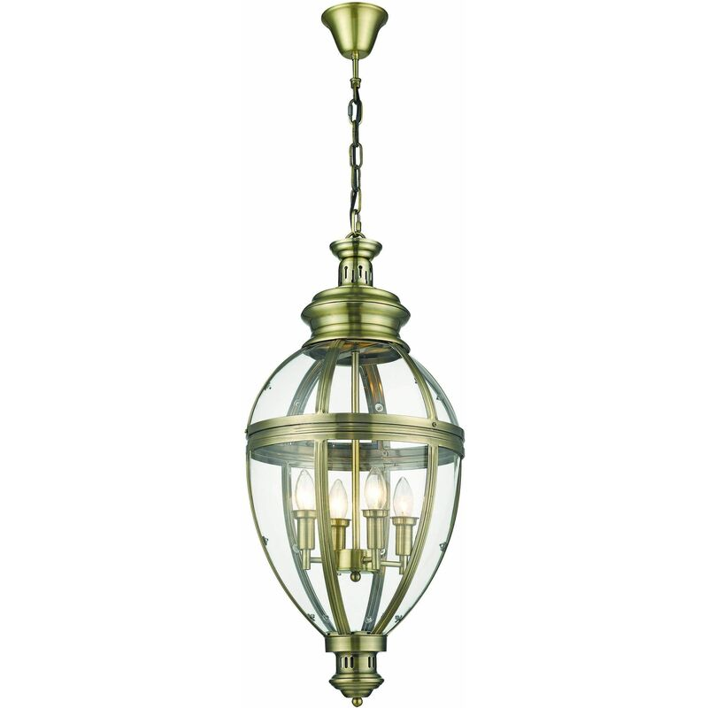 Image of Pendant light antique brass COVENTRY 4 lights