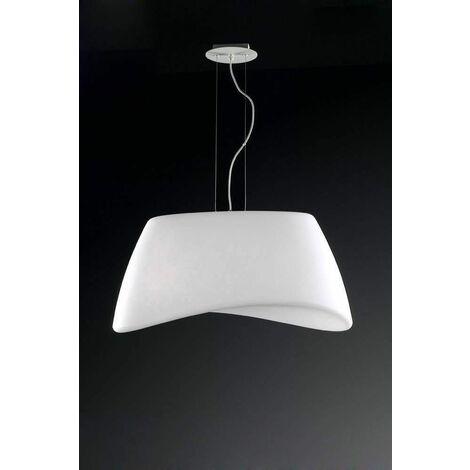 Pendant light Cool 2 Bulbs E27 oval Outdoor IP44, matt white / opal white