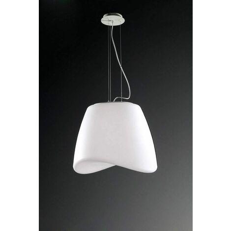 Pendant light Cool 3 Bulbs E27 round Outdoor IP44, matt white / opal white