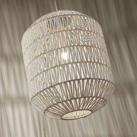 Pendant light Danya made of white woven paper 48cm