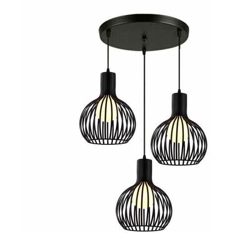 Pendant Light Industrial Metal Ceiling Lamp , Retro 3-lights Chandelier E27 for Living Room Kitchen Restaurants