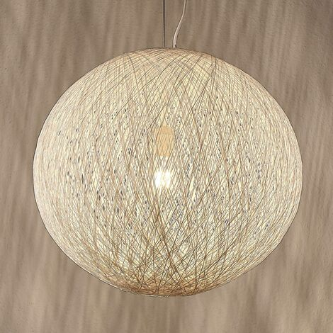 Pendant light Julio made of fine paper, white