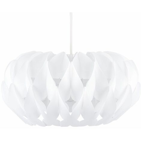 Pendant Light Shade Matt White Pleated Origami Ceiling Lounge Lighting