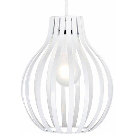 Pendant Light Shades Metal Ceiling Black White Lighting - White