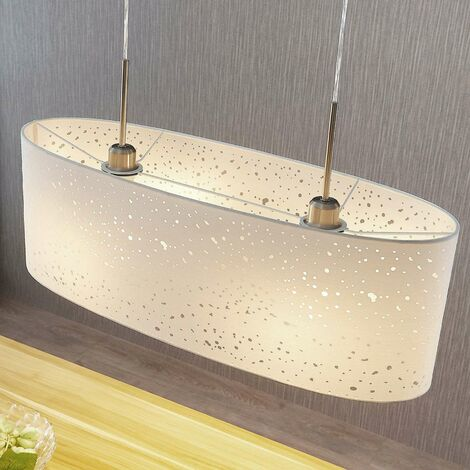 Pendant light Umma with holes, 2-bulb, white