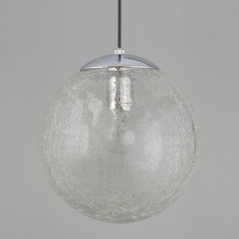 Pendant Light with Clear Glass Shade LED compatible Contemporary Style