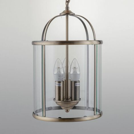 Pendant Light with Clear Glass Shade LED compatible Traditional Style