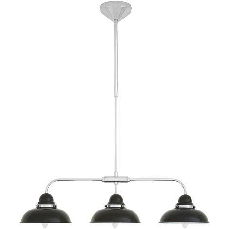 Pendant light,3 light, black/chrome
