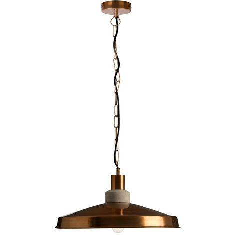 Pendant light,aluminium colour,copper finish