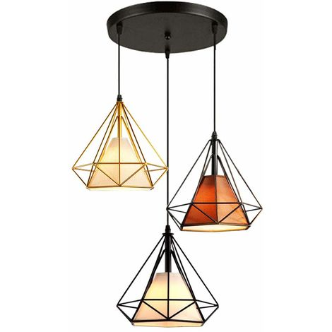 Pendant Lights Industrial Ceiling Fitting Chandelier Lampshade for Home Office Bedroom Living Room Dining Room Coffee Shop