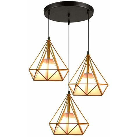 Pendant Lights Industrial Ceiling Fitting Chandelier Lampshade for Home Office Bedroom Living Room Dining Room Coffee Shop,Yellow