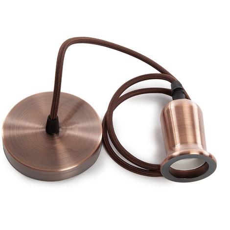 Pendel E27 Cable 1000Mm 0,75Mm Tela - Rosetón [SC-MPL018] (SC-MPL018)