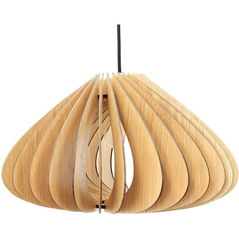 Wodewa - Pendellampe Holz   Luna   Massivholz Pendelleuchte   Deckenleuchte Deckenlampe Holzlampe Luna - Eiche