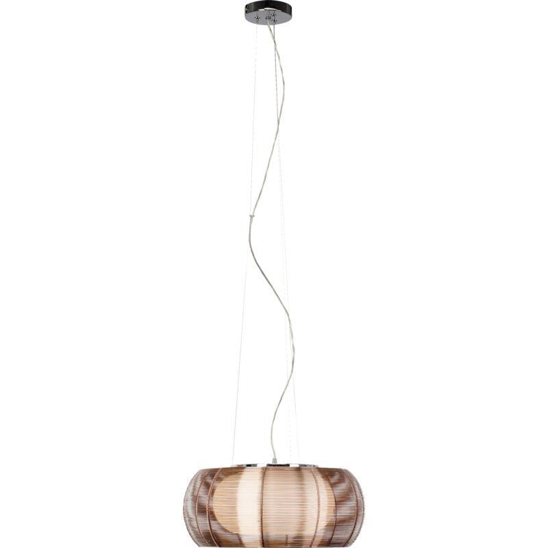 Lightbox - Pendelleuchte, 1-flammig, 2x E27 max. 30W, Metall / Glas, bronze / chrom-'LB00001075'