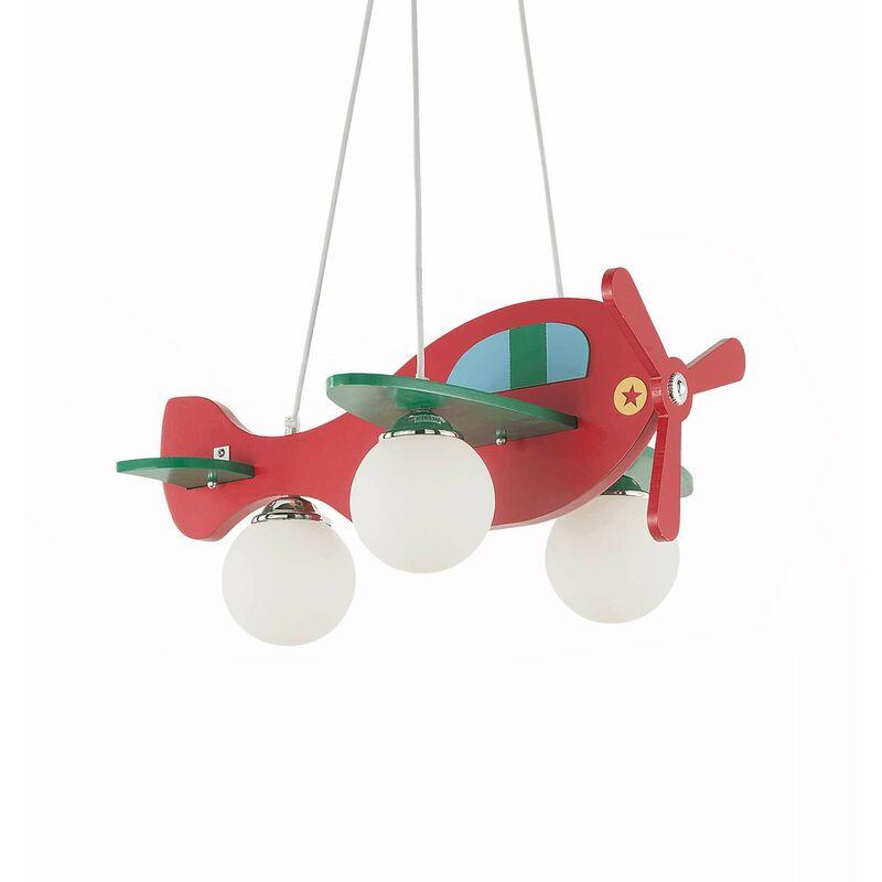01-ideal Lux - Mehrfarbige PLANE Pendelleuchte 3 Lampen