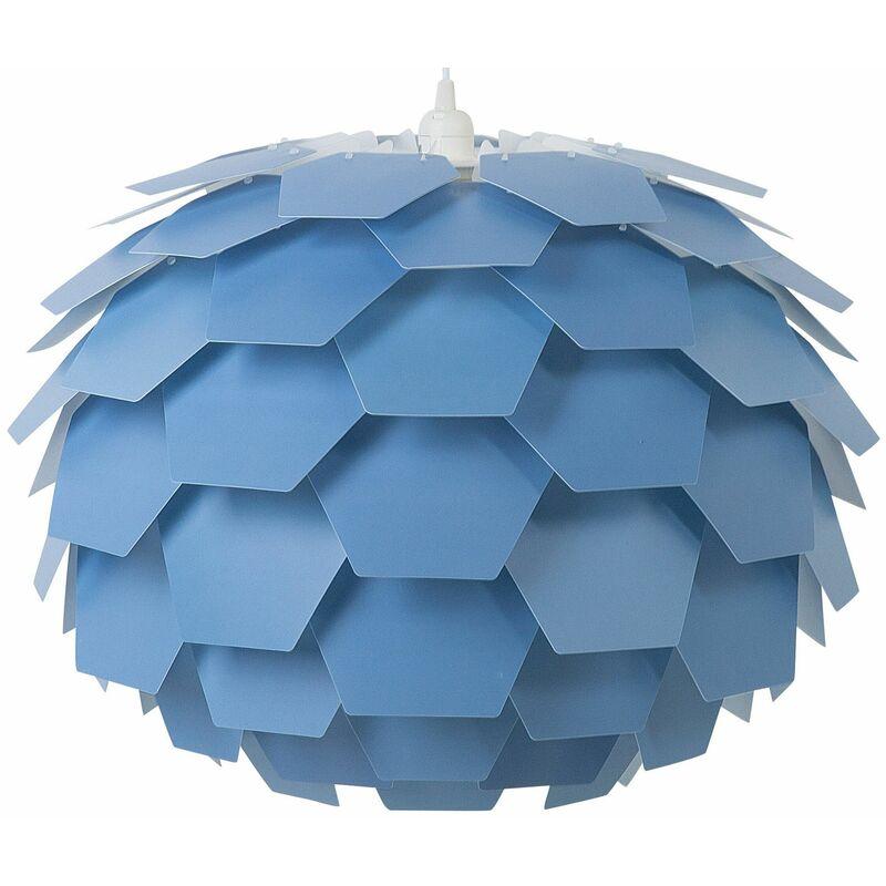 Beliani - Hängeleuchte Blau Blumenform Zapfen großer Schirm Kinderzimmer Beleuchtung Modernes Design