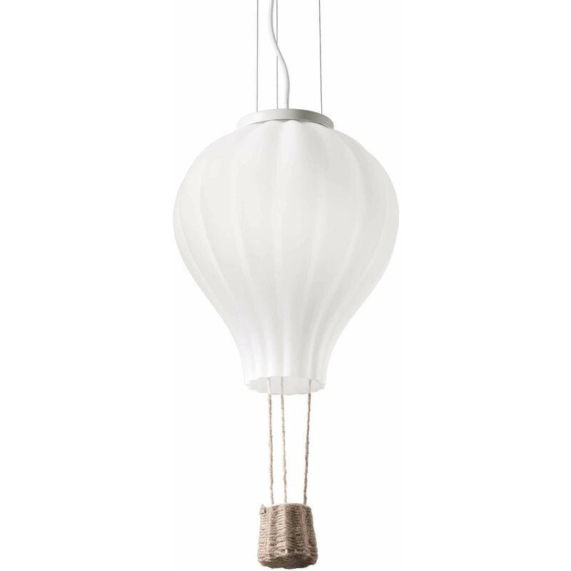 01-ideal Lux - Weiße Pendelleuchte DREAM BIG 1 Glühbirne