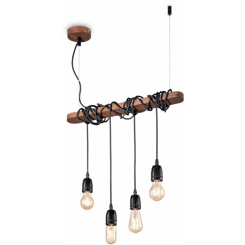 01-ideal Lux - Corten ELECTRIC Pendelleuchte 4 Lampen