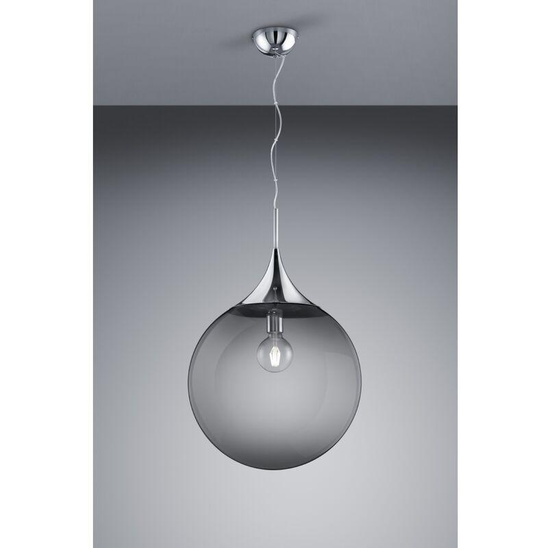 Trio Leuchten - 301690106 LED MIDAS rauchfarbig smoke Pendelleuchte Deckenleuchte Lampe 1xE27 ca. 45 cm Durchmesser-'SW12994'