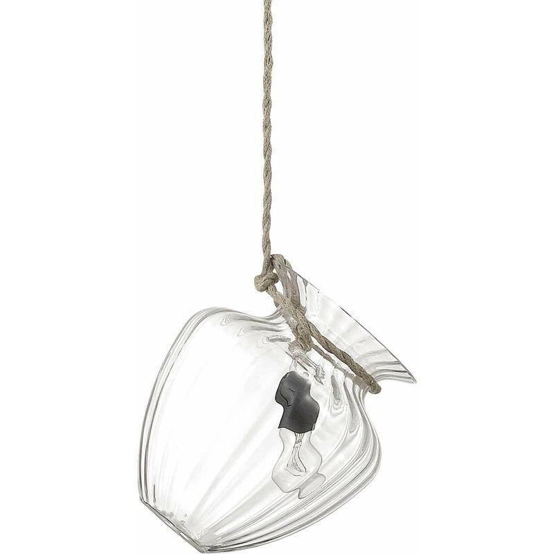 01-ideal Lux - Transparente POTTY Pendelleuchte 1 Glühbirne