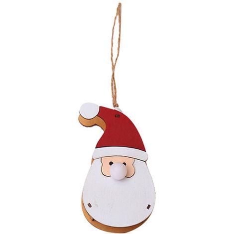 Pendentif Poupee Lumineuse En Bois, Arbre De Noel Decoratif