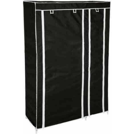 Penderie en tissu 107 x 175 x 45 cm noir