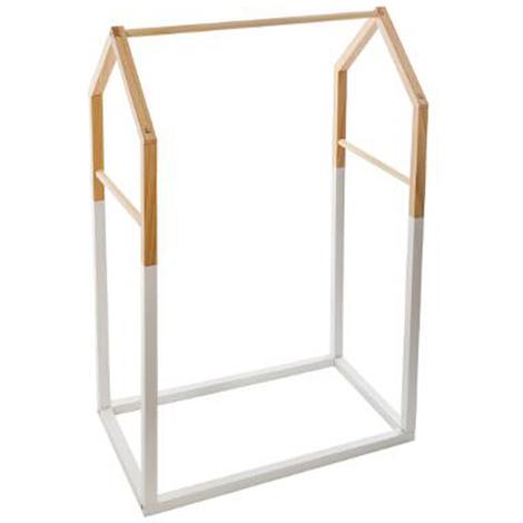 Penderie enfant en bois forme masion blanc - Dim : L.60 x l.37 x H.100 cm -PEGANE-