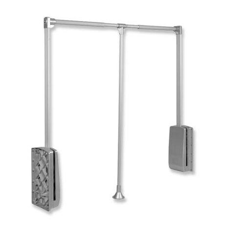 Penderie escamotable extensible gris EMUCA de largeur 830 à 1150 mm - 9283911