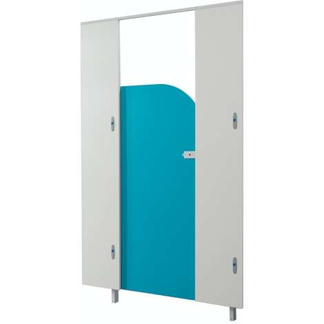 Pendle blueberry junior toilet cubicle door pack with white pilasters
