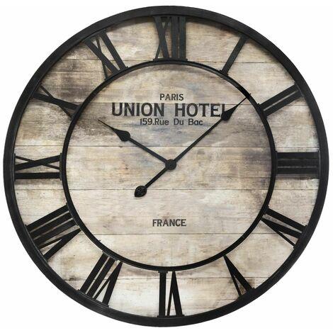 Pendule Métal Vintage Diamètre 68