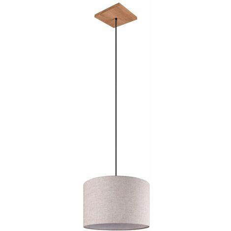 """main image of """"Péndulo lámpara de techo salón foco colgante textil madera pasillo iluminación blanco"""""""