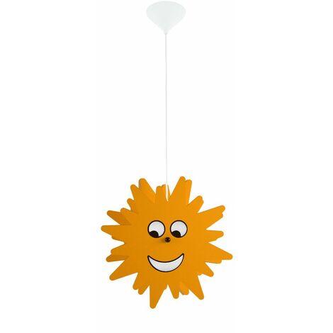 Péndulo Lámpara techo Iluminación habitación niños Lámpara colgante Sun Yellow Spotlight Eglo 94142