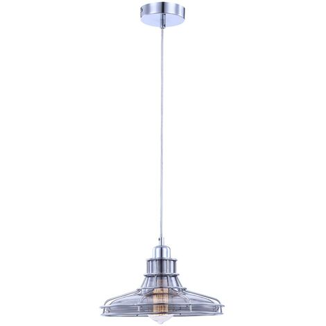 Pendulum lámpara de techo de comedor de vidrio de cromo mesa de comedor de metal para iluminación de 2.700 grados Kelvin