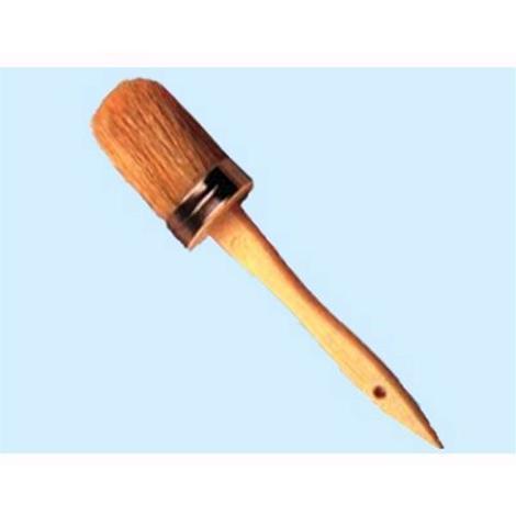 Pennelli ovalini manico legno - Numero 2 - mm. 19x42 Conf. 12 Pz