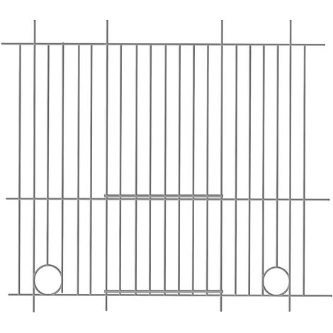 Pennine Canary Bird Cage Front (45cm X 25cm) (One Size) (Silver)