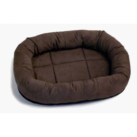 Pennine Faux Suede Ringo Cat Bed (51 x 38cm) (Mocha)