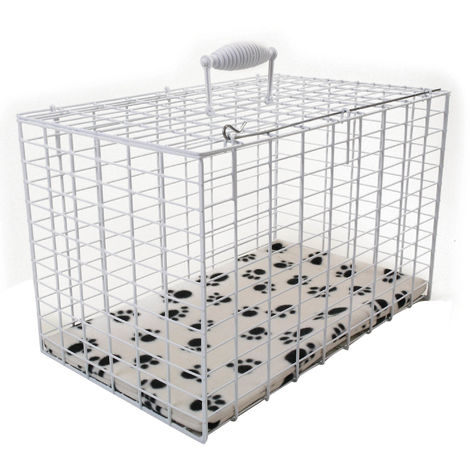 Pennine Rectangular Wire Pet Carrier (Large) (White)