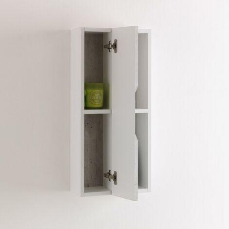 Pensile A Giorno 2 Vani Da Soggiorno 17,5x16x78,2 Cm Tft Belsk Bianco E  Cemento
