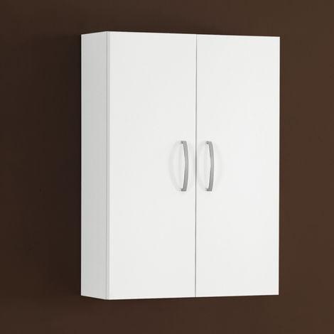 Pensile bagno 2 ante 51x71x20 cm laccato lucido bianco - E50P