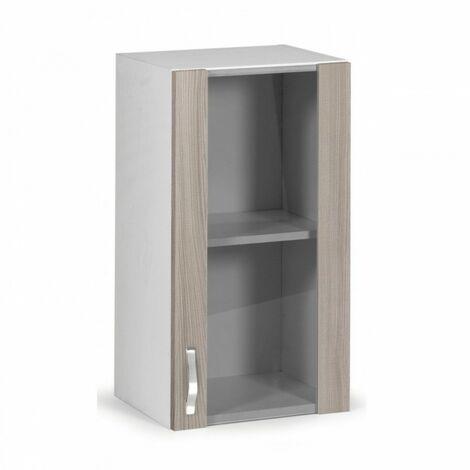 Pensile da cucina in legno nobilitato 1 anta vetrina olmo cm 40x32xH 72
