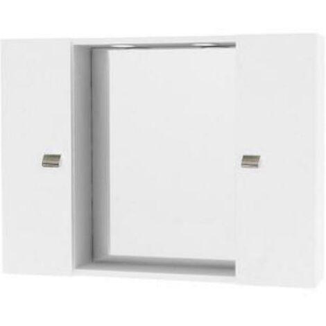 Specchio Bagno Bianco.Pensile Specchio Bagno Con Due Ante Bianco Laccato Ed