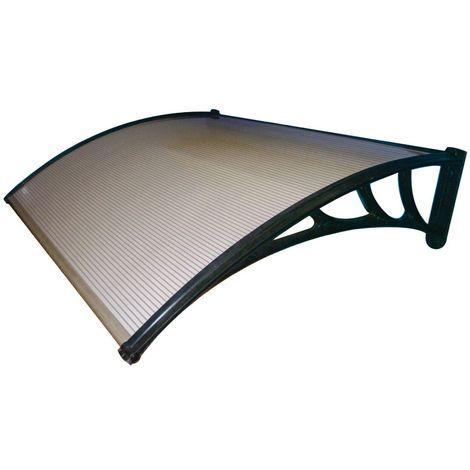 Pensilina tetto tettoia in abs copertura in policarbonato alveolare fume' 100x80
