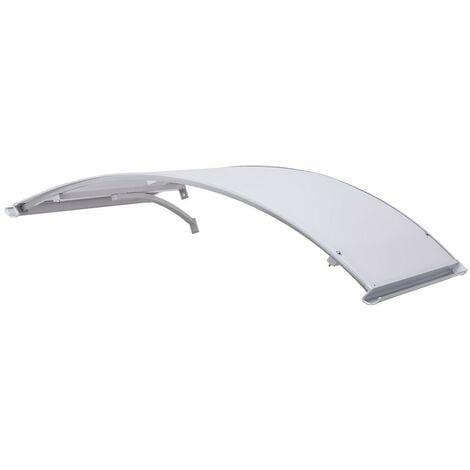 Pensilina Tettoia 160x120 in Policarbonato ad Arco di Alluminio per Copri Porta