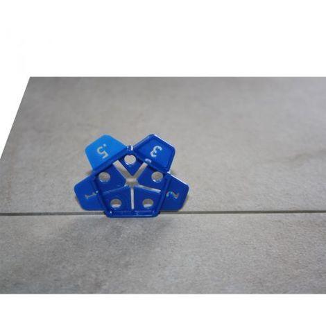 Penta distanziatore per piastrelle pavimenti rivestimenti fuga 0,5-1-1,5-2-3 mm
