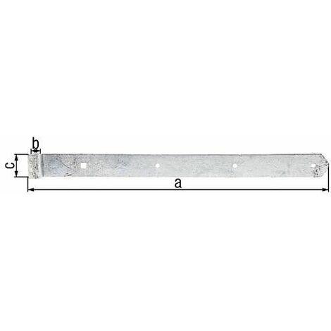 Penture droite/arrondie 500x40mm, d13mm, galvanisé a chaud