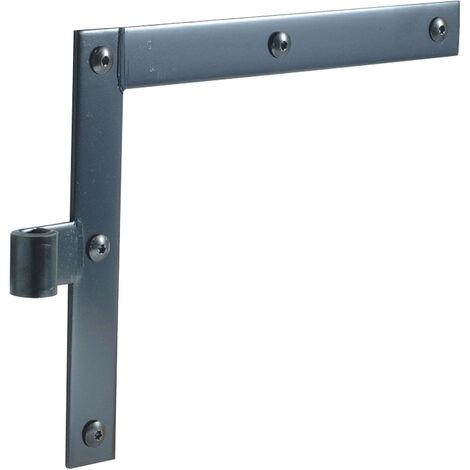 Penture equerre acier - Sens : Paire - E mm : 5 - Trous : 5 - TORBEL