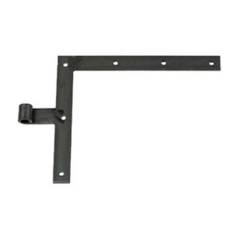 Penture équerre noire droite / gauche à bout droit - 250 x 300 mm - Axe 14 mm - Percée - Vendu par 2 - Torbel industrie