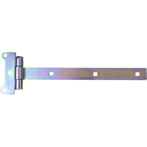 Penture festonnée Tirard & Burgaud - Longueur Entraxe 12,3 cm - Penture 600 mm - Gris