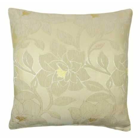 """Peony 18"""" Cream Cushion Cover Bed Sofa Accessory Unfilled"""