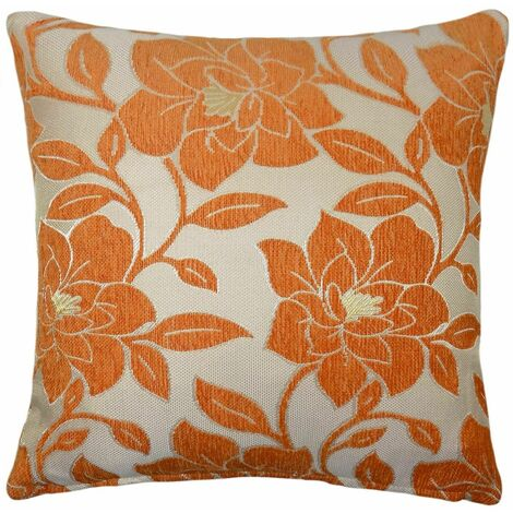 """Peony 18"""" Orange Cushion Cover Bed Sofa Accessory Unfilled"""